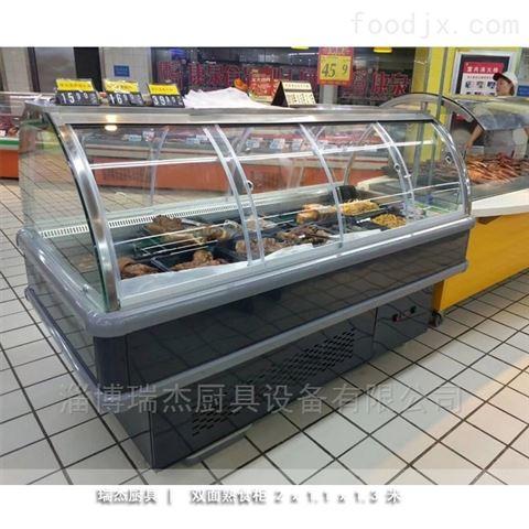 天水双弧推拉门熟食展示柜厂家
