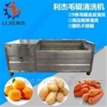 自动喷淋红薯胡萝卜毛辊清洗机清洗脱皮机