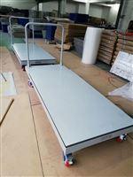 1.2x1.5m移动式地磅 重庆2吨带轮子移动磅秤