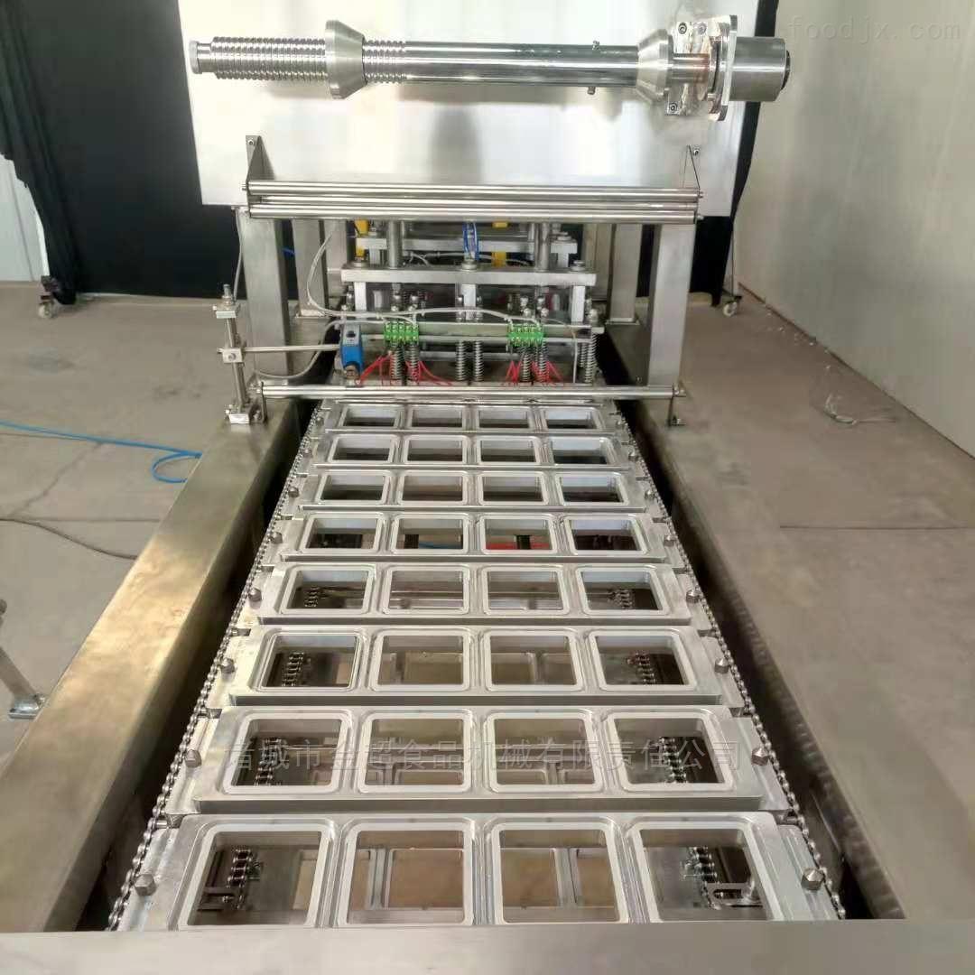 速冻水饺馄饨托盒装连续封口机