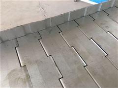 裙边金属链板式输送带_排屑机链板