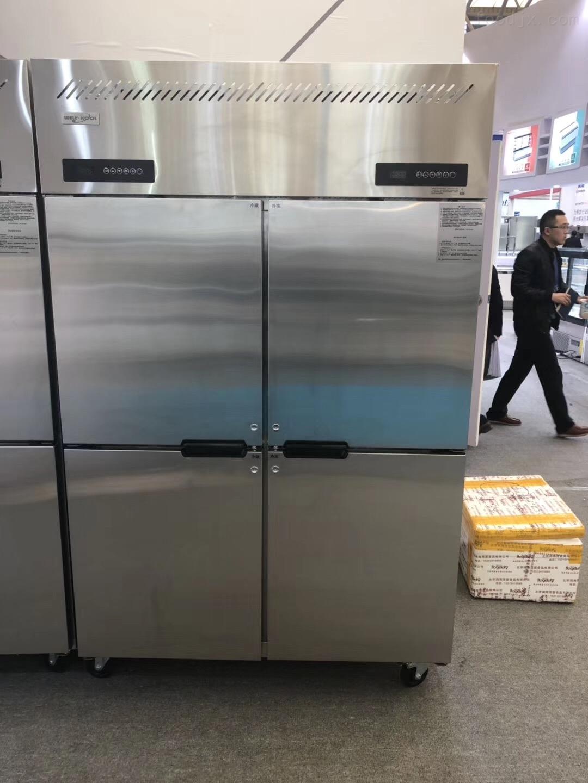 佛斯科大型直冷柜商用四门双温冰箱
