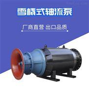 临时排涝大流量潜水泵卧式轴流泵