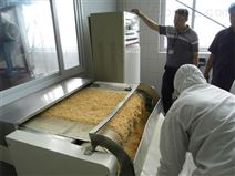 杂粮熟化烘干杀菌燕麦片低温微波烘焙设备