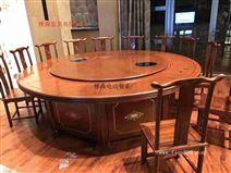 电动大圆桌 输送带椭圆餐桌 电动餐台