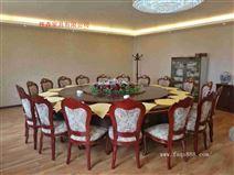 酒店餐桌 餐廳桌椅 輸送帶電動橢圓桌