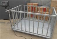 scs碳钢动物称  带围栏畜牧称可移动
