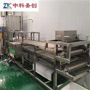 一人操作豆腐皮加工机器视频 小型干豆腐机价格 做豆皮机器图片