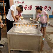 生产商直销蔬菜气泡清洗机连续出料清洗干净