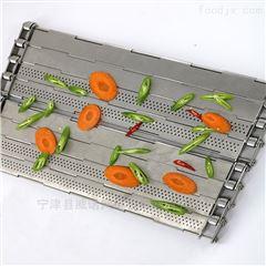 食品蔬菜加工流水线清洗冲孔型不锈钢链板