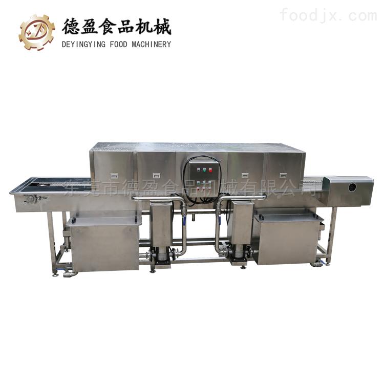 DYXK-4000-蔬菜框隧道式胶框洗框机-德盈食品机械