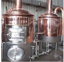 300L德式紫铜工艺精酿啤酒糖化设备