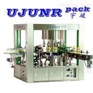 ULPF-0806R-全自动热熔胶洗手液方瓶贴标机