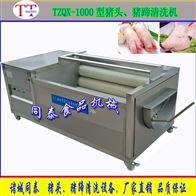 TQX-1000毛刷辊猪头清洗机 自动洗猪蹄猪耳机器