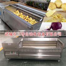 金刚砂辊土豆清洗去皮机