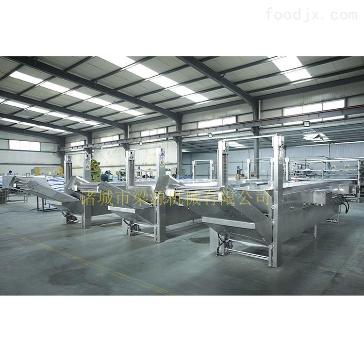 全自动大型丸子流水线 肉丸蒸煮生产线