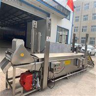SZ1000全自动素肉油炸生产线 大型鱼块油炸流水线