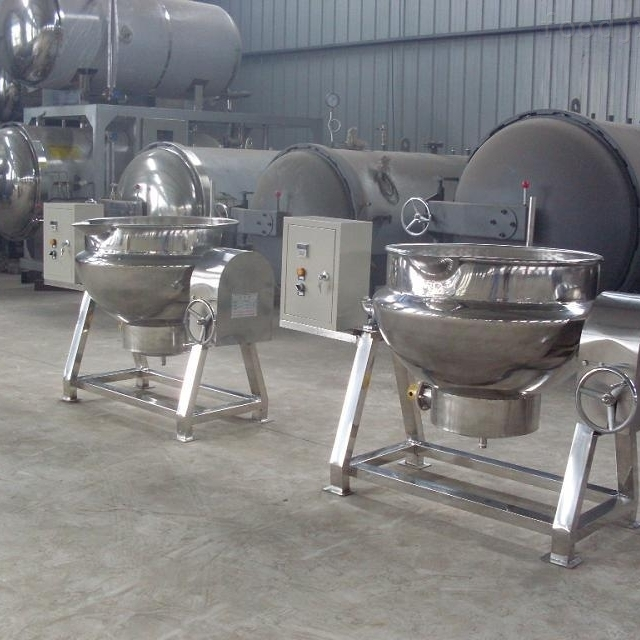 小型高效商用天然气夹层锅