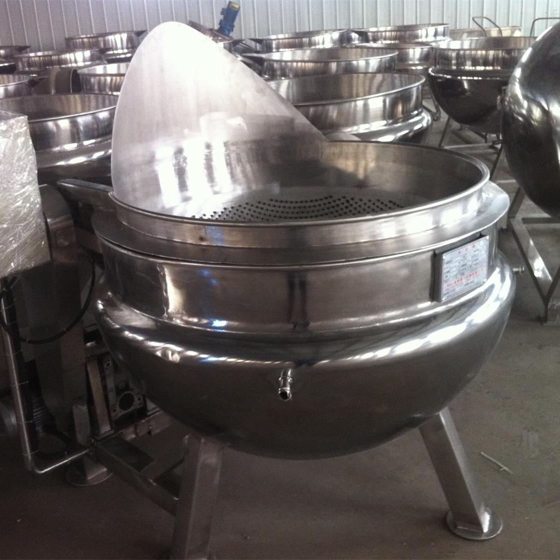 大型高效全自动夹层锅