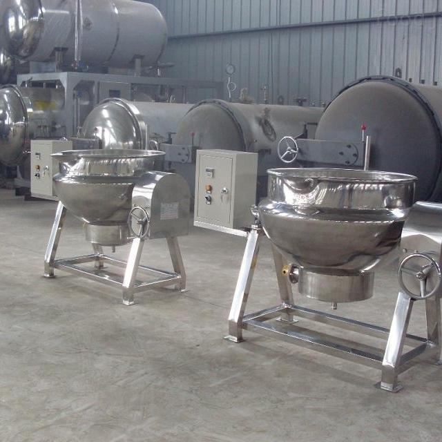 大型高效全自动夹层锅的安装方式